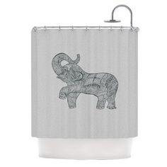 KESS InHouse Elephant Shower Curtain
