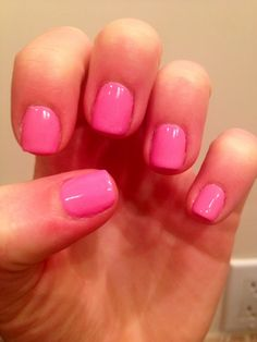 Pink nails for Spring<3 such a cute color