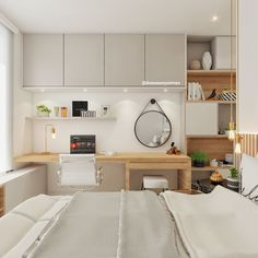 Home Decoration Cheap Ideas Study Room Design, Home Room Design, Home Office Design, House Design, Small Room Bedroom, Home Decor Bedroom, Home Office Bedroom, Small Space Interior Design, Easy Home Decor