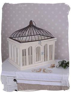 Nostalgica Gabbia Per Uccelli Antico Dekokaefig Shabby Chic Voliera Bianco in Casa, arredamento e bricolage, Decorazione della casa, Vassoi e ciotole   eBay
