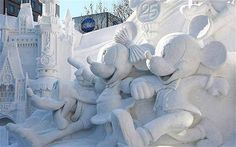 A sculpture of Micky that appeared in this year's Sapporo Snow Festival