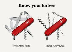 Swiss vs. .French Army Knife
