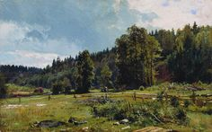 SHISKIN, Ivan Ivanovich - meadow at the edge of the forest. Siverskaya. 1887