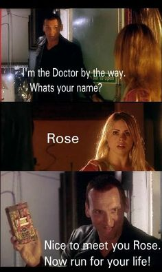 Crucial moment in history--The Doctor meets Rose. <3 #DoctorWho
