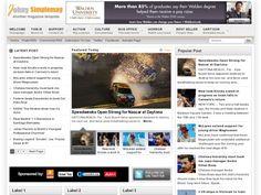 Johny Simplemag Blogger Template é um template blogger para blog de noticias, revista e etc. Com layout elegante, Johny Simplemag tem 3 colunas, 1 sidebar direita, menus drop-down, slide de conteúdo em destaque, blocos de widget por categorias, botões de compartilhamento social, posts relacionados, locais para posicionar anúncios e muito mais.