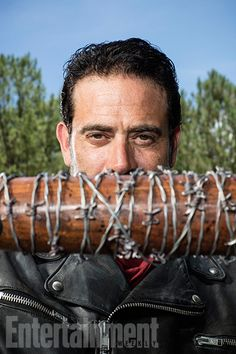 Negan gets down to business in this outtake from our cover shoot. Photo credit: Matthias Clamer for EW.