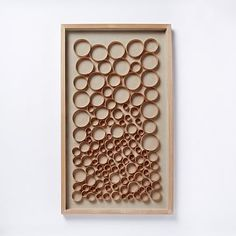 "Nature of Wood Wall Art - Light Wood #westelm - love love love 24"" x 40"