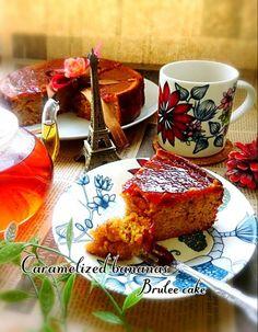 パリパリキャラメルバナナブリュレケーキ/B L U E 🍴 | SnapDish[スナップディッシュ] (ID:Lr0qya) Sweets Recipes, Cake Recipes, Cooking Recipes, My Dessert, Fruit Dessert, Cafe Food, Banana Recipes, Sweet Desserts, Sweet Treats
