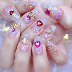 5 pcs Bee nail decoration/ Bee golden Nail DIY nail deco Bee charm for nail gel mail polish design/ Jewelry crafts charm DIY New inspiration 60 +Pic Pink Gel Nails Id👌The best nail products 💅stylish gorgeous glam Uñas Sailor Moon, Sailor Moon Nails, Bee Nails, Pink Nails, Pastel Nails, Glitter Nails, Acrylic Nails, Gorgeous Nails, Pretty Nails