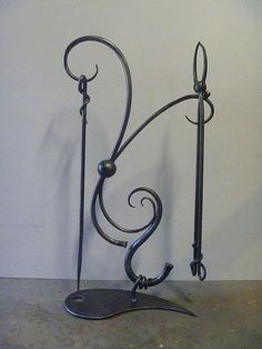 Fire Tool Stand.  Designed and Constructed by Luke McCrae @ The Blacksmiths, Rosemount, Qld