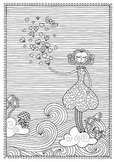 Pri Sathler - Freebie - Desenho para colorir - Coloring book Namorandinhos - Free colouring pages - Love