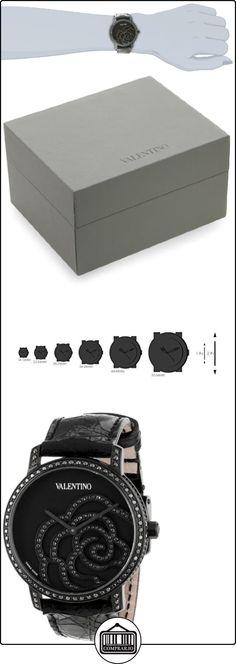 Valentino Rose Black PVD Steel Womens Strap Watch Black Diamonds V41SBQ-6709-SSA09  ✿ Relojes para mujer - (Lujo) ✿