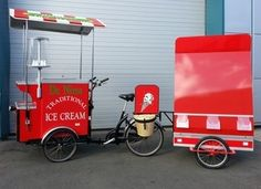 Custom Built Food Bike and Trikes, Hot Dog Bikes Ice Cream Tricycles Crepe Trikes and all Other Types of Custom Food Bikes