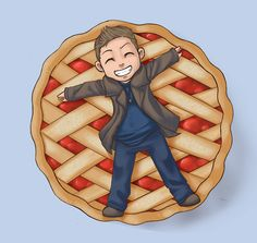Dean is very appeased when he gets pie.