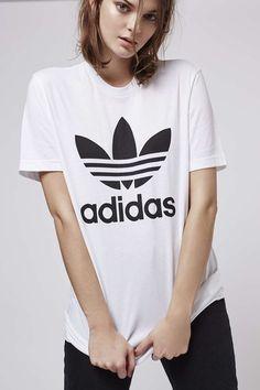 adidas trefoil t-shirt damen