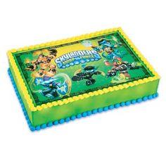Amazon.com: 1/2 Sheet Cake Skylanders Swap Force Edible Cake Topper: Toys & Games