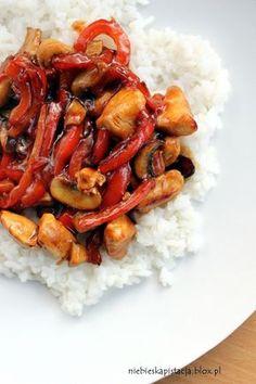 Kurczak teriyaki Diet Recipes, Cooking Recipes, Best Cookbooks, Good Food, Yummy Food, Salty Foods, Chinese Food, Asian Recipes, Food Porn