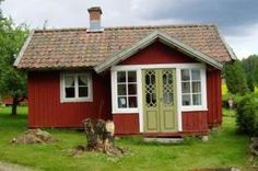 A small red house in Sweden.