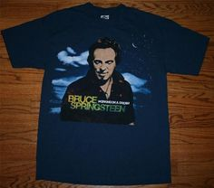 """New BRUCE SPRINGSTEEN   """"Working on a Dream"""" 2009 Concert Tour T-SHIRT-M-FREE SHIP"""