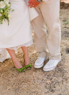The perfect, green wedding shoes!!!