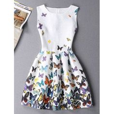 SHARE & Get it FREE | Stylish Butterfly Print Sleeveless Round Neck Women's Mini DressFor Fashion Lovers only:80,000+ Items·FREE SHIPPING Join Dresslily: Get YOUR $50 NOW!