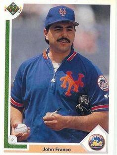 1991 Upper Deck #290  John Franco   New York Mets Baseball Card  -  MINT #NewYorkMets