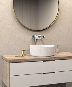 Wall mounted mixers allow better use of bench space where things are tight or where the basin is the hero.