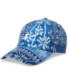 8c63b1cd2ad Polo Ralph Lauren Men s Graphic Embroidered Chino Baseball Cap  49.50 A  vibrant print inspired by Moroccan tile enlivens this washed cotton baseball  cap ...