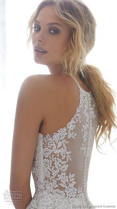 morilee 2018 bridal sleeveless halter jewel neck heavily embellished bodice elegant a line wedding dress sheer lace back chapel train (7) zbv