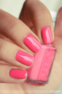 Off the shoulder ESSIE Nail Trends, Strawberry, Nail Polish, Strawberry Fruit, Strawberries, Polish, Manicures, Nail Polishes, Gel Polish
