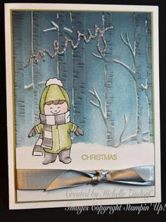 Winter Walk in the Woods – Stampin' Up! Card