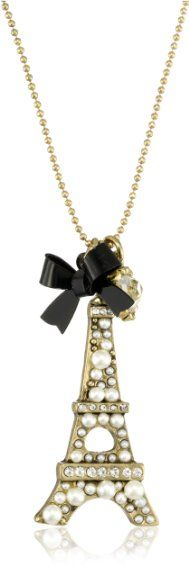 """Betsey Johnson """"Betsey Goes to Paris"""" Eiffel Tower Pendant Necklace ( I have this! )"""