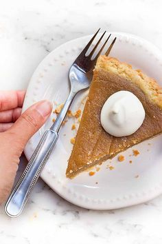 Sweet potato pie makes a wonderful addition to your holiday dessert menu. Get the recipe: http://foodal.com/recipes/desserts/sweet-potato-pie/