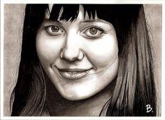 Mary Elizabeth Winstead, posca, crayons, stylos pigment liner.