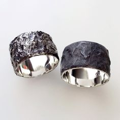 Before the oxidisation is carefully polished back to reveal the silver underneath, the surface of the Anthracite Ring by Alicia Hannah Naomi is matte black and chalky. Due to the very nature of any...