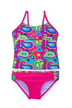 b576606ad8 JumpN Splash Girls Pink Paisley Halter Tankini wUV 50    See this great  product. Girls Jewelry · Girls Swimming Clothes