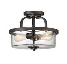 Tulsa Ceiling Semi Flush Light is stylish and understated, featuring a clear…