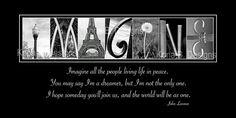 Alphabet Photography Imagine quote by John Lennon by KonaBDesigns, $29.00