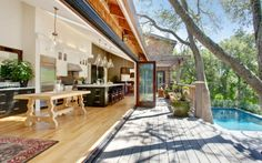 Open kitchen area = you know, for my summer dream home