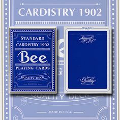 Quality Blue Bee (Rare/Out of Print) USPCC - Trick
