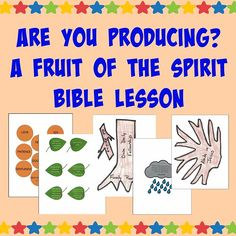 This Fruit of the Spirit Bible Lesson includes the lesson as well as printables to help create an engaging visual picture.
