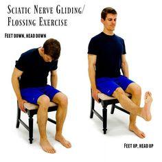 Sciatic Nerve Relief, Sciatica Pain Treatment, Sciatica Stretches, Sciatica Symptoms, Sciatic Pain, Yoga Exercises, Stretching Workouts, Stretching, Sciatica