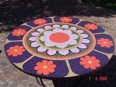 Mosaic 8 seater table, this one took me 2 days to do it was quite large.