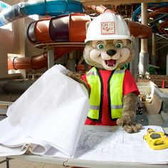 Wiley and the rest of our team is working hard on the construction of Great Wolf Lodge Southern California. Are you ready for your family getaway? You can book your vacation for early 2016 today!
