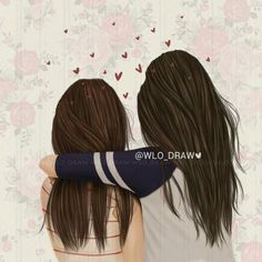 girly_m friends in school Girly M, Best Friend Drawings, Girly Drawings, Sisters Drawing, Sarra Art, Illustration Mode, Best Friend Goals, Best Friends Forever, Friend Pictures