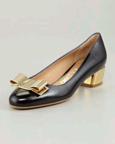 Feragamo gold bow