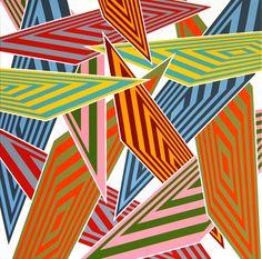 SAra Hughes Data Crash 2 2009 Acrylic on linen 80 x 80 Pattern Art, Art Patterns, Art Programs, Palette, Stripes, Gallery, Drawings, Artists, Models