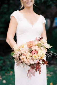 Autumn Inspired Wedding - See more on Style Me Pretty: http://www.StyleMePretty.com/pennsylvania-weddings/philadelphia/2014/03/06/autumn-inspired-philadelphia-wedding/ Siousca Photography