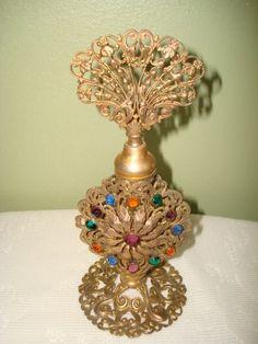 Antique Vintage Appolo Jeweled Perfume Bottle   eBay