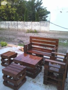 Eye Catching Sittin' Pretty Pallet Garden Set Make your patio or garden the best seating in the house with this Sittin' Pretty Pallet Garden Set! It's a straightforward design, but the elegance is in the simplicity. This set was made from Euro pallets. To make a set of these for yourself, you'll need several pallets, lots of outdoor wood screws and/or nails, and...